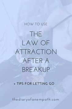 We can't use the law of attraction to bring someone back if that someone doesn't want to come back. We all have free will. Another hard truth? Even if that someone DID want to come back, the law of attraction can't work until we've accepted where we are and have genuinely let go of the past. And when we are attempting to use the law to draw a specific person back into our lives, we haven't let go at all... no matter how much we've convinced ourselves otherwise.