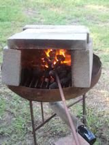 Blacksmithing on a Home Made forg