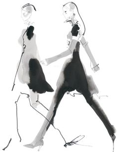 Fashion illustration by  David Downton.