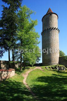 Zvikov Castle at the Orlik artifical lake on the Vltava River, Czech Republic
