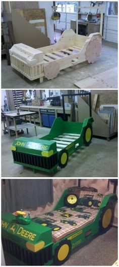 Tractor bed; kids bedroom ideas for boys; toddler boy tractor bedroom; little boy bedroom ideas; boy beds