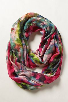 Blushing Floral Infinity Scarf #anthropologie