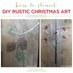 Cutting Edge Stencils shares easy DIY stenciled pallet art with the Holiday Stencils and acrylic craft paint. Pallet Projects Christmas, Easy Christmas Crafts, Rustic Christmas, Christmas Art, Simple Christmas, Diy Projects, Cutting Edge Stencils, Wood Cutting, Stencil Diy