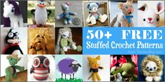 A huge collection of over fifty free amigurumi crochet patterns. Browse through the images to find the perfect amigurumi pattern! Cute Crochet, Crochet Yarn, Kawaii Crochet, Crochet Round, Amigurumi Patterns, Crochet Patterns, Crochet Ideas, 3d Figures, Crochet Books