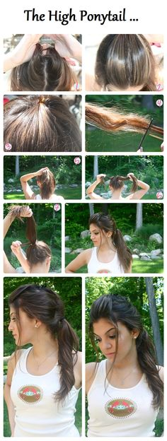 How to Do a High Ponytail hair style