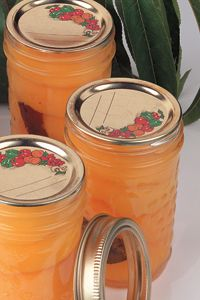 Ginger bourbon canned peaches