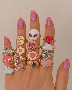 Nail Jewelry, Funky Jewelry, Trendy Jewelry, Summer Jewelry, Cute Jewelry, Jewelry Rings, Jewelry Accessories, Jewelry Design, Cute Rings