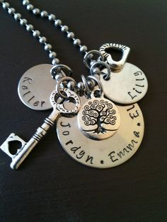 Mother's Day Grandmother Charm Necklace