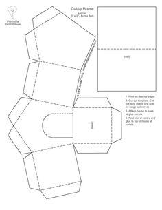 bird house box template #bird #craft #BirdCraft #BirdHouseTemplate