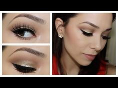 Gold Glitter Prom Makeup Tutorial using Too Faced Chocolate Bar Palette!