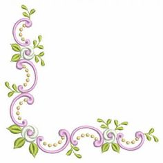 Advanced Embroidery Designs - Cutwork Lace Rose Corner - Google Search