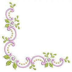 Advanced Embroidery Designs - Cutwork Lace Rose Corner - Google Search