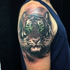 Realism tiger tattoo by Jesse - Emerald Tattoo Elk Grove