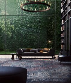 Glass-Walled library next to Forest, Germany