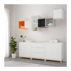 EKET Kombinacja szafek z nóżkami - wielobarwny - IKEA
