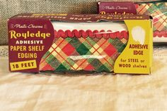 Vintage Royledge Paper Shelf Edging Tartan by SweetPeaPastiche