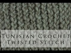 Tunisian Crochet Twisted Simple Stitch