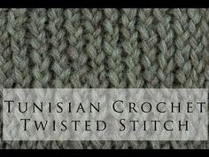 Tunisian Crochet Twisted Simple Stitch