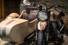 Old fashioned Scrambler sidecar by Ducati, Italian style -