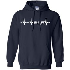 Quad Drums Heartbeat Hoodie