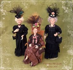 CUSTOM ORDER Edwardian OLD Lady ooak 1/12  by SorayaMiniatures, $189.00