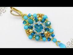 Beaded Earrings, Beaded Bracelets, Earring Tutorial, Beading Tutorials, Round Beads, Youtube, Jewelry, Manga, Ear Rings
