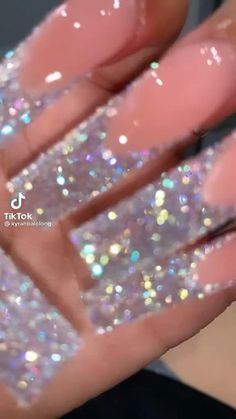 Acrylic Nails Coffin Pink, Long Square Acrylic Nails, Simple Acrylic Nails, Coffin Nails, Glow Nails, Glitter Nails, Bling Nails, Luxury Nails, Fire Nails