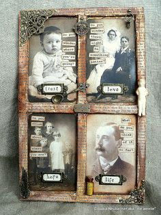 Von Pappe II: Idea-ology Found Relatives shadowbox http://vonpappe2.blogspot.co.at/2014/04/with-song-in-your-heart-april-challenge.html