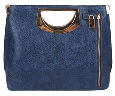 Sassysac Notebook Structure Tote, Navy Blue
