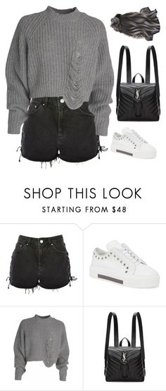 """Sans titre #2696"" by frenchystyle ❤ liked on Polyvore featuring Topshop, Alexander McQueen and Yves Saint Laurent"