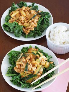Saucy Peanut Tofu Scramble (better than PB, lite firm tofu)