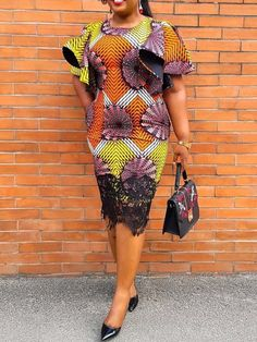 Buy reasonable price and you could save much money online. African Wear Dresses, African Fashion Ankara, Latest African Fashion Dresses, African Print Fashion, Ladies Day Dresses, Prom Dresses, African Print Dress Designs, Lace Gown Styles, Kente Dress