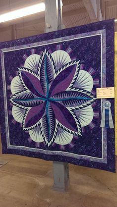 Fire Island Hosta designed by Quiltworx.com, made by Jennifer.  Received a First Place ribbon at the Umpqua Valley Quilt Show.