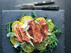 Tagliata With Green Tomatoes Oregano And Mustard Recipe #FoodRepublic