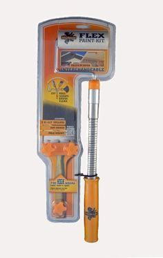 Flex Paint Kit- Interchangable Flexible Extension Arm for Paint Brushes and Mini Rollers. by McCauley Tools-Flex Paint Kit, http://www.amazon.com/dp/B009RA3WTA/ref=cm_sw_r_pi_dp_6fQ0qb10Z1R3C