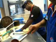 Do you want to Learn How to make Domino's Pizza? from Slaping to topping...
