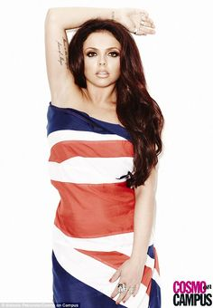Cool Britannia: Positively smouldering as she pouted doe-eyed into the camera, Jesy went for a sexy vibe while working her magic in front of the lens