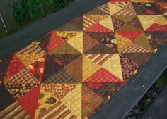 Autumn Table Runner Fall Handmade Quilted by atthebrightspot, $58.00