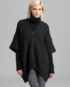 Vince Poncho - Cable Knit Chunky Texture on shopstyle.com