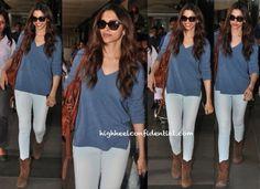 Deepika Padukone Photographed At Mumbai Airport