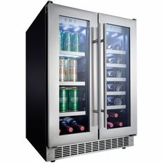 "Danby DBC047D3BSSPR Silhouette Professional 24"" French Door Beverage Center in Stainless Steel"