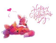 I think everyone can use it as a valentine) Enjoy sleeping Foxy and Mangle! Have a nice Valentine's day!