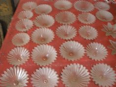 Vintage large lot of 80 BOBECHES glass white different sizes