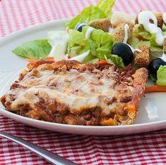 Deep Dish Beef Pizza Casserole
