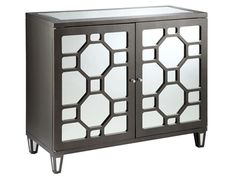 Stein World Living Room Cabinet 2 door mirrored g