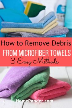 Learn how to remove debris from microfiber towels with these easy DIY techniques. Cleaning your microfiber towel is essential for having a clean house. These cleaning hacks will help you clean microfiber towels like a pro. #cleanmicrofiber #microfibertowel #microfiber #cleaninghacks #cleanhouse #cleaningtips #towelscleaning #cleaning. Home Cleaning Schedule Printable, Diy Home Cleaning, Bathroom Cleaning Hacks, House Cleaning Tips, Kitchen Cleaners, Diy Cleaners, Cleaners Homemade, Best Shower Cleaner, Homemade Shower Cleaner