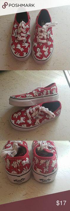 kids Disney vans 101 dalmation disney vans boys and girls.size 10.5c  excelent condition Vans Shoes Sneakers