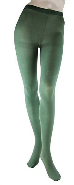 7ba1be28e Amazon.com: Foot Traffic Opaque Fashion Tights By Foot Traffic: Clothing  Green Tights