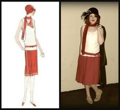 """1920's costume for a production of """"Bugsy Malone"""""""