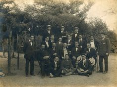 Baritone Antonio Cotogni's class at the Accademia di Santa Cecilia in Rome Antonio Cotogni (center row, center), Beniamino Gigli (top row, right), Enrico Rosati (center row, 2nd from right)